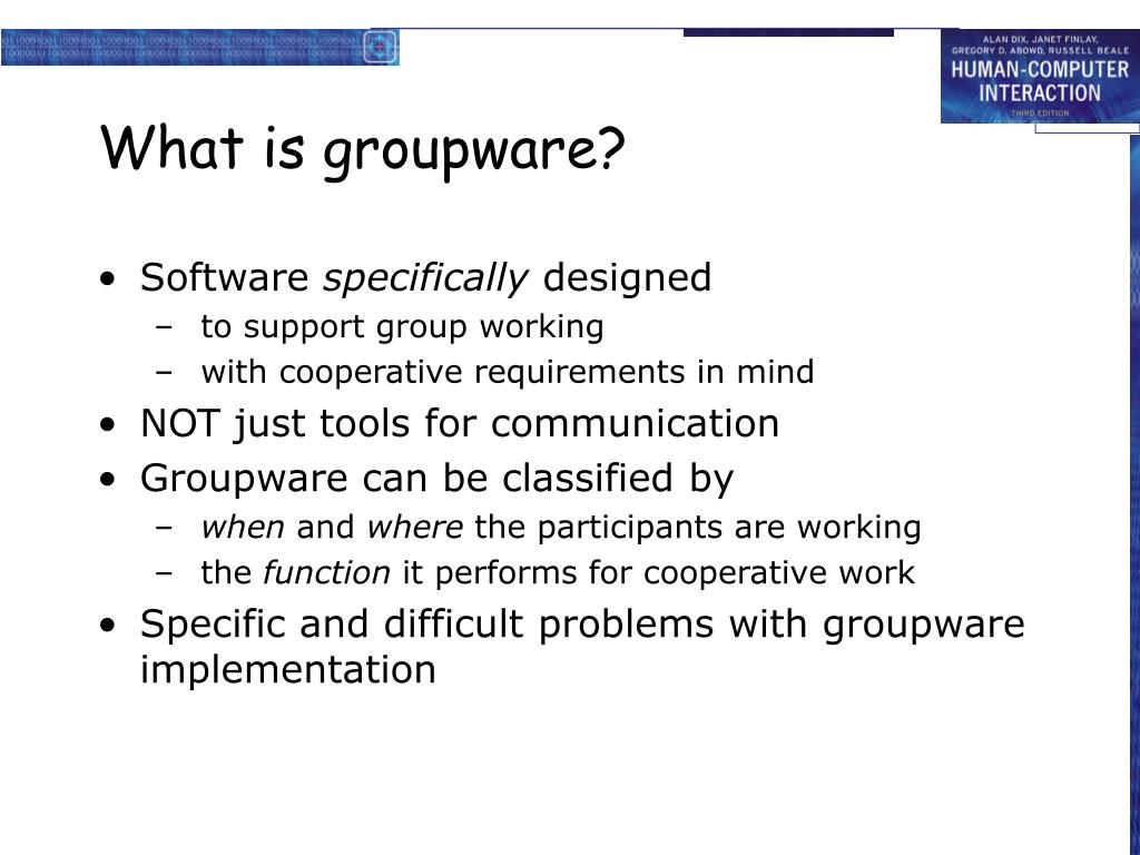 What is groupware?
