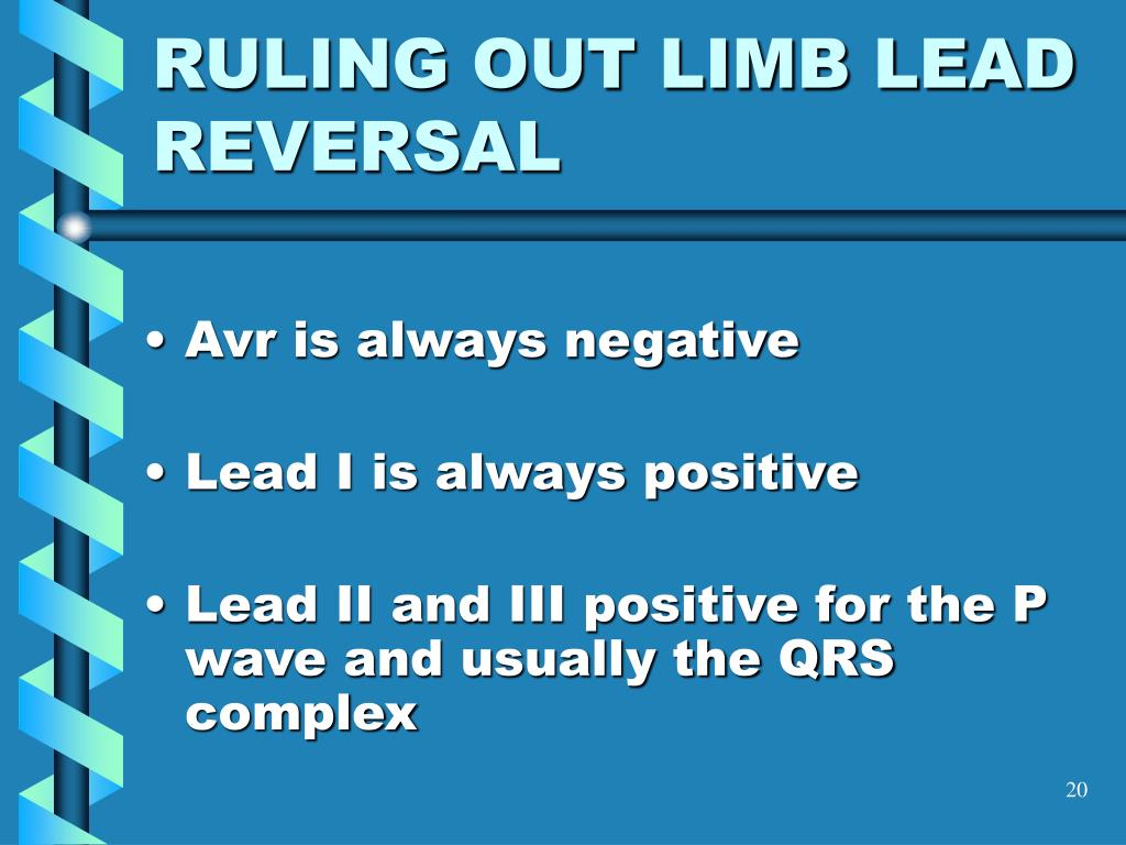 RULING OUT LIMB LEAD REVERSAL
