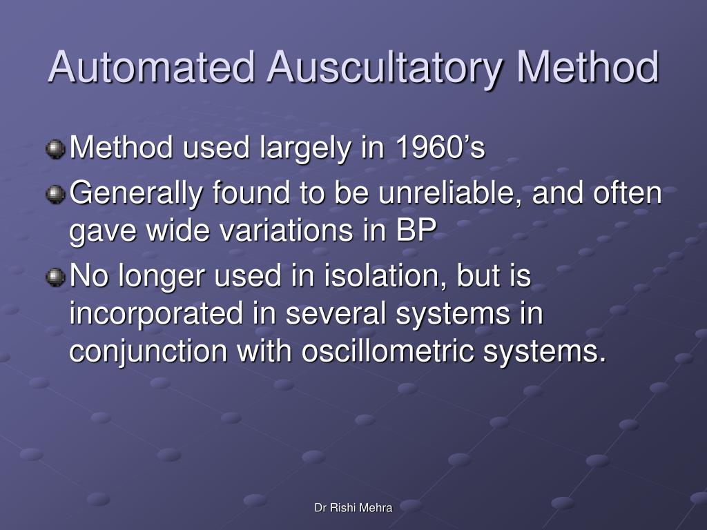 Automated Auscultatory Method