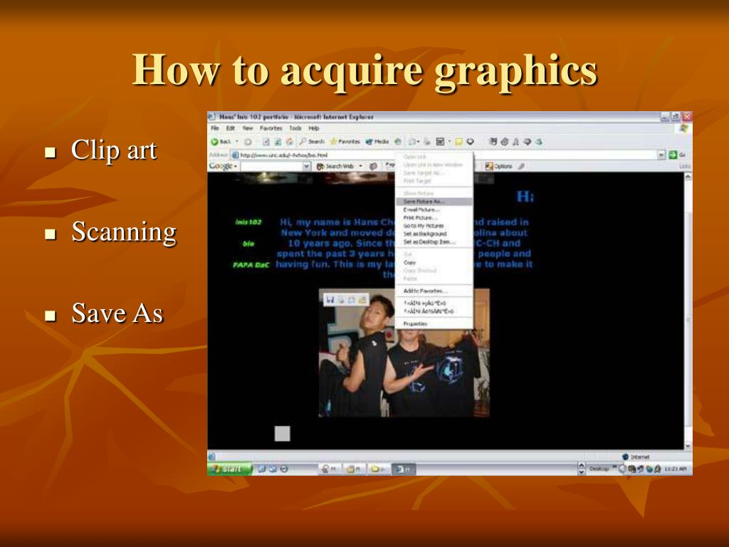 How to acquire graphics