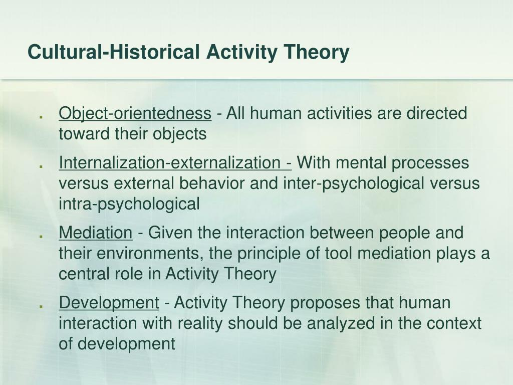 Cultural-Historical Activity Theory