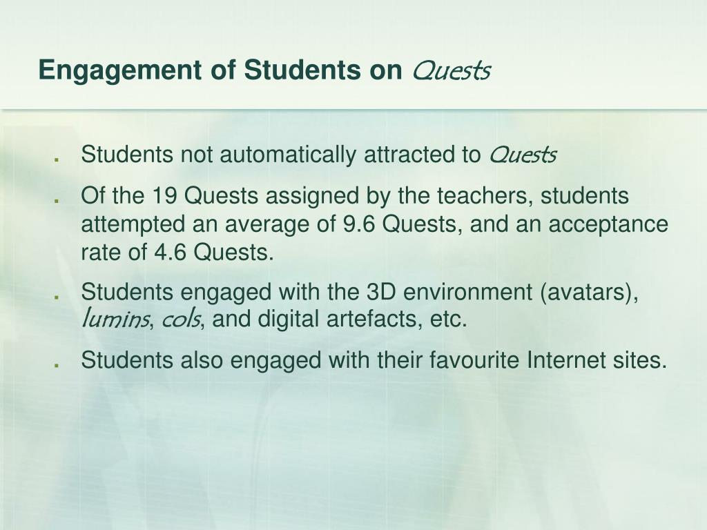 Engagement of Students on
