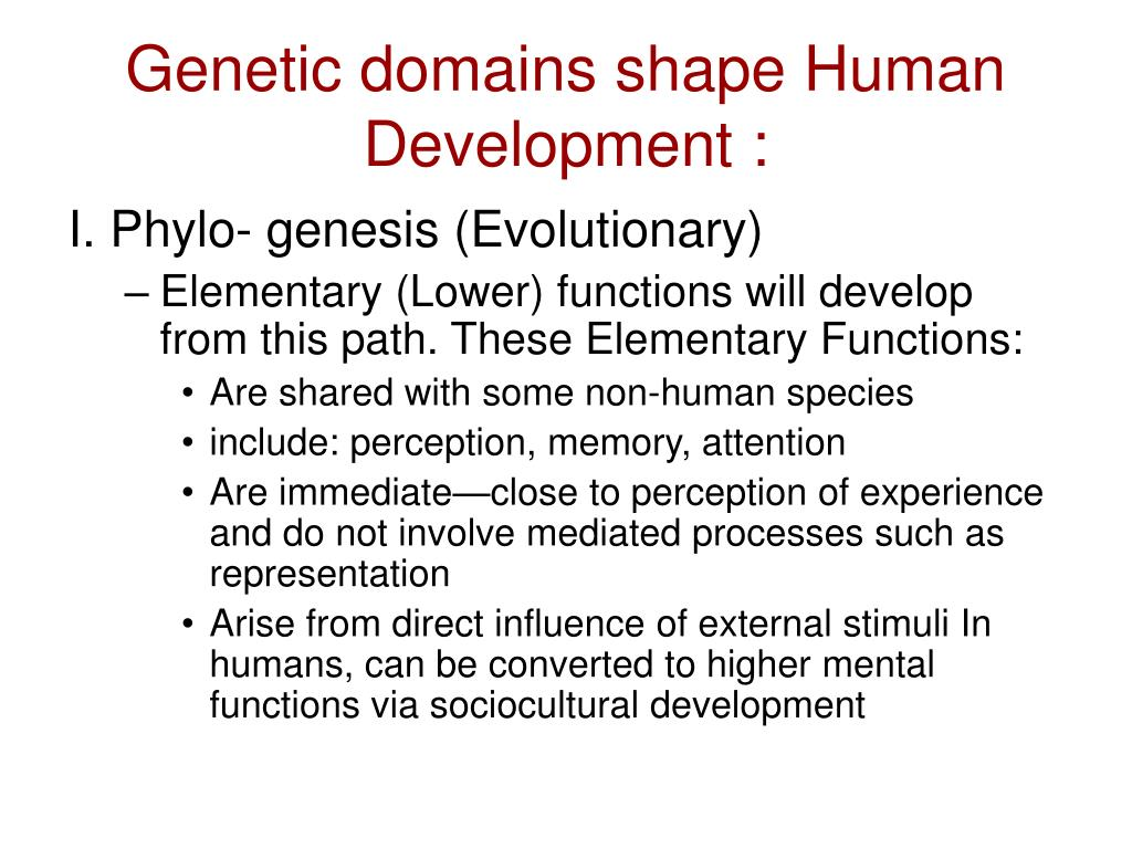 Genetic domains shape Human Development :