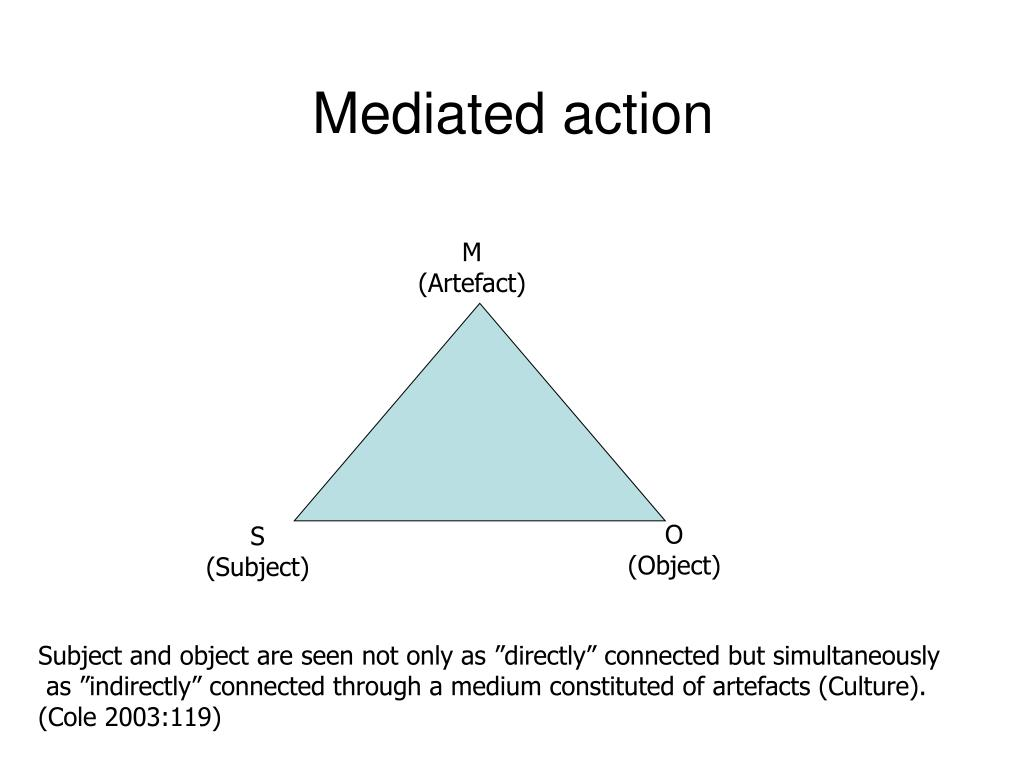 Mediated action