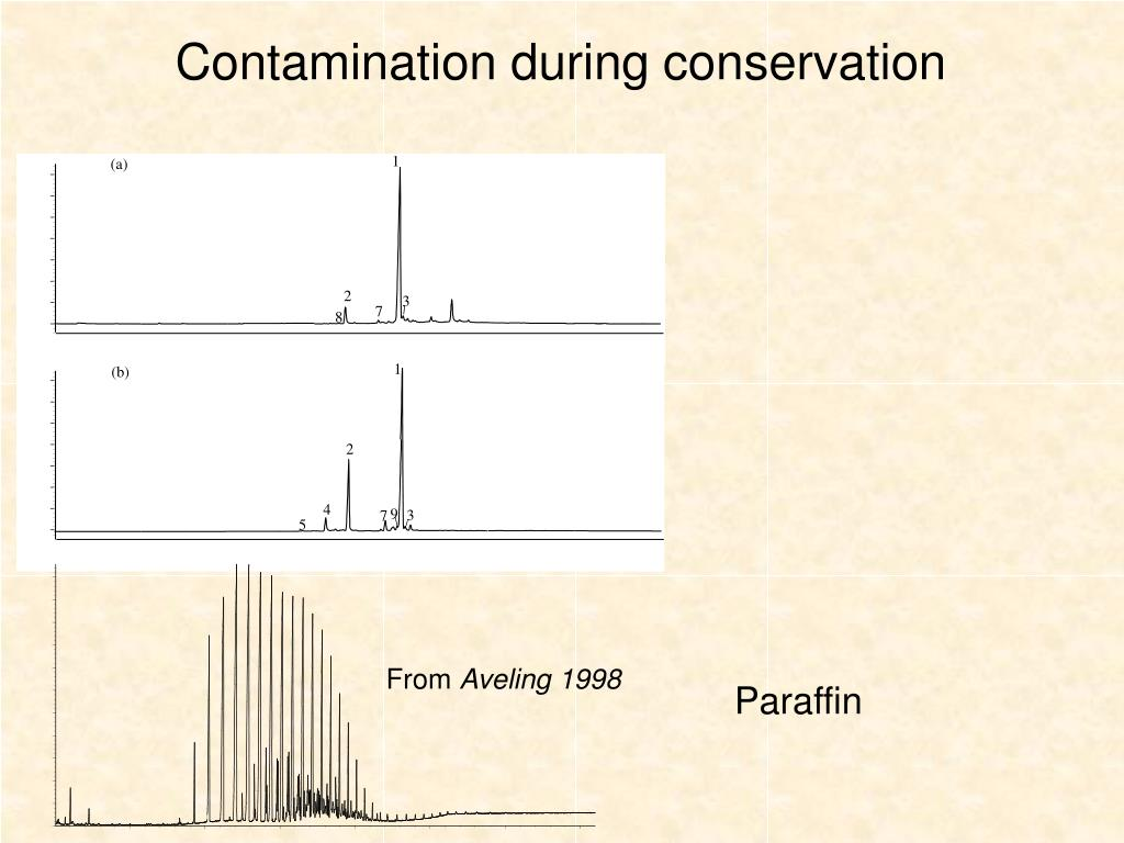 Contamination during conservation
