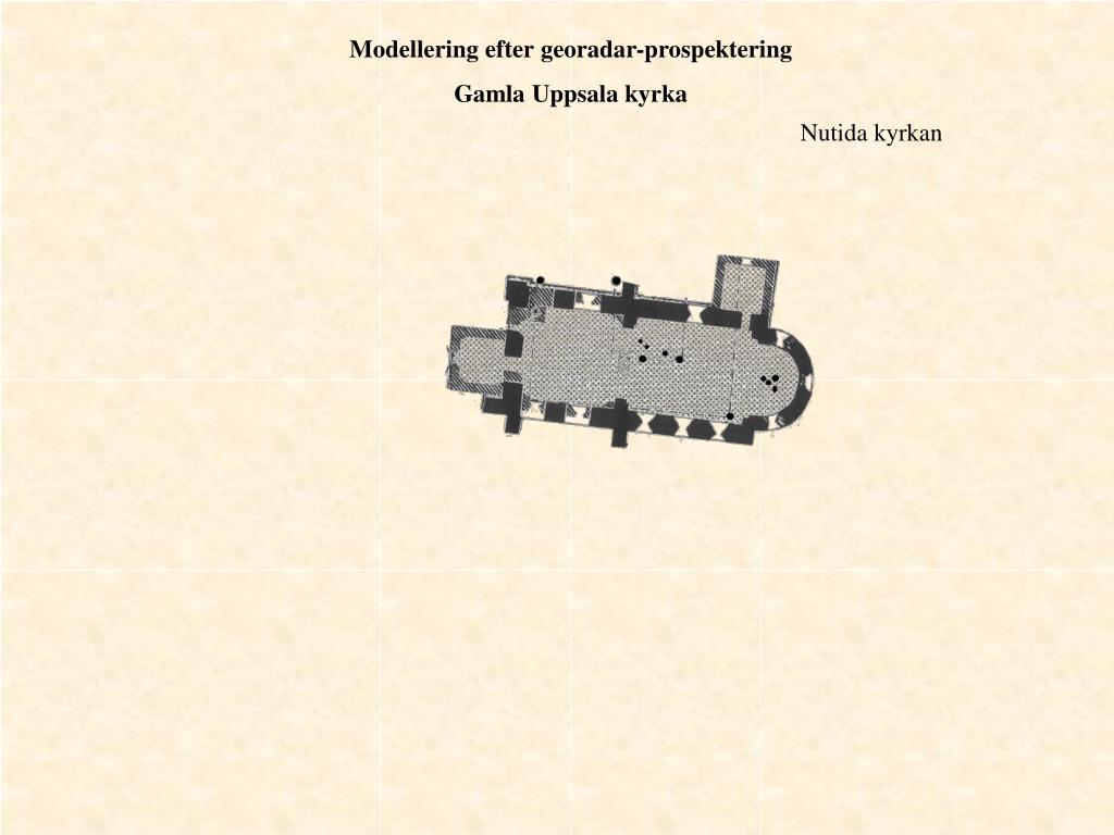 Modellering efter georadar-prospektering