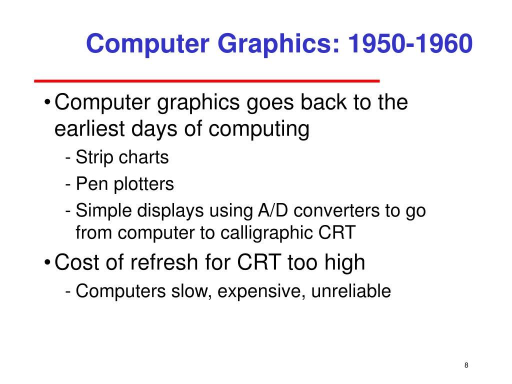 Computer Graphics: 1950-1960