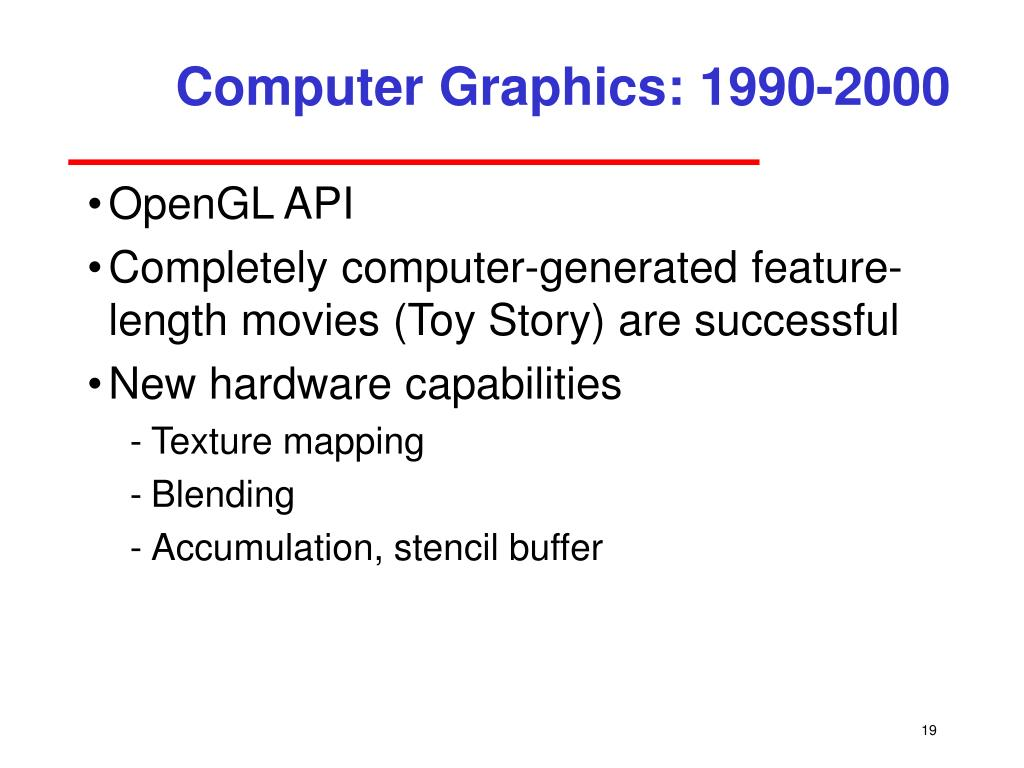 Computer Graphics: 1990-2000