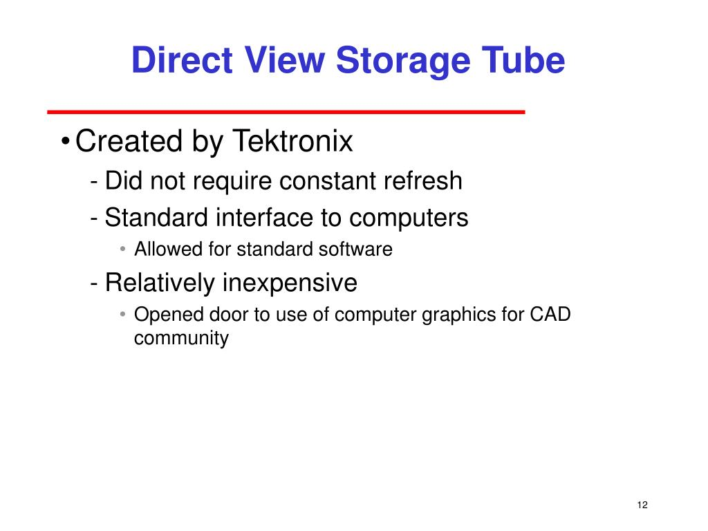 Direct View Storage Tube