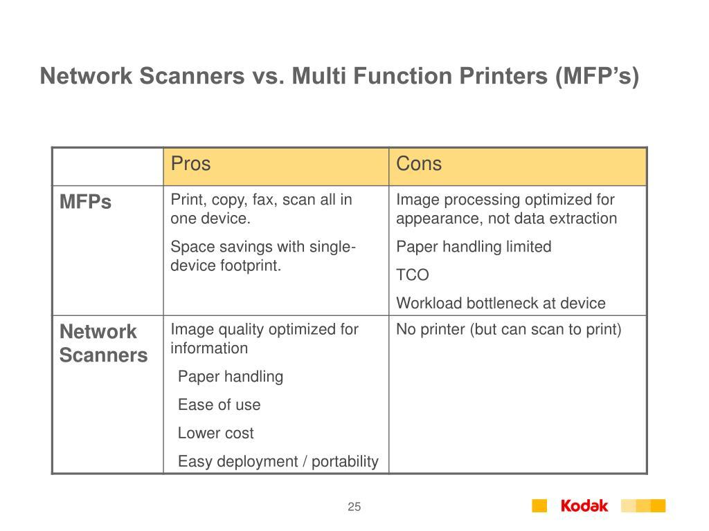 Network Scanners vs. Multi Function Printers (MFP's)