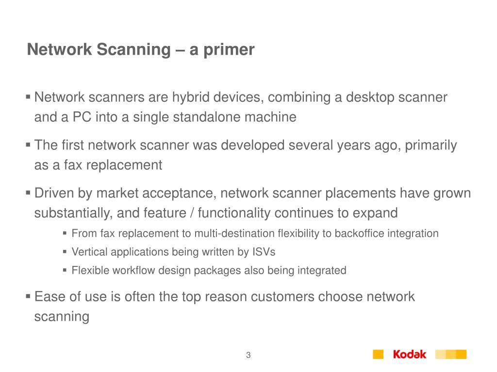 Network Scanning – a primer