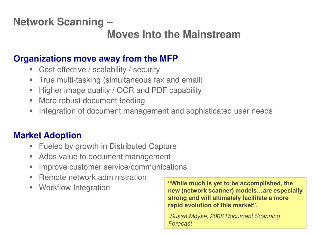 Network Scanning –