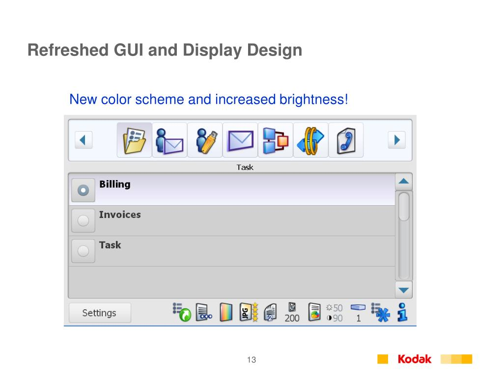 Refreshed GUI and Display Design