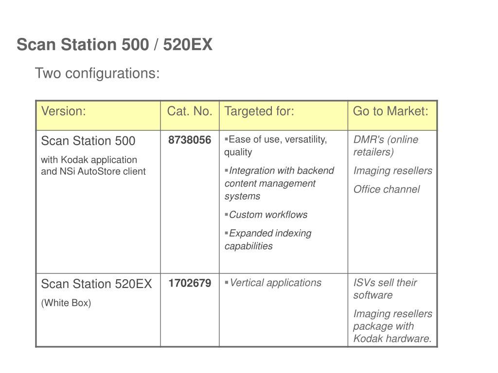 Scan Station 500 / 520EX