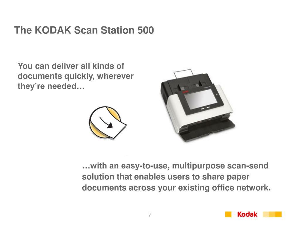 The KODAK Scan Station 500