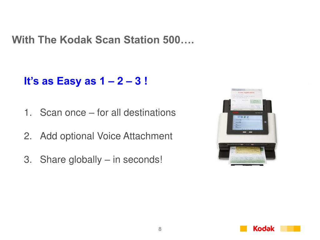 With The Kodak Scan Station 500….