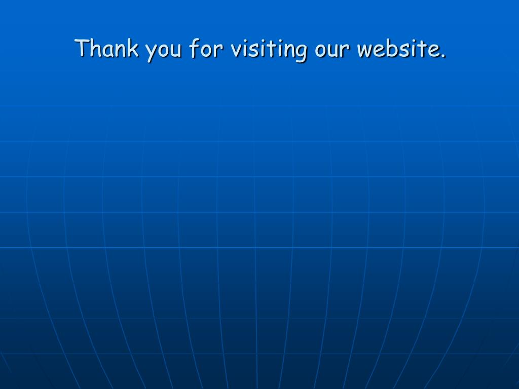 Thank you for visiting our website.