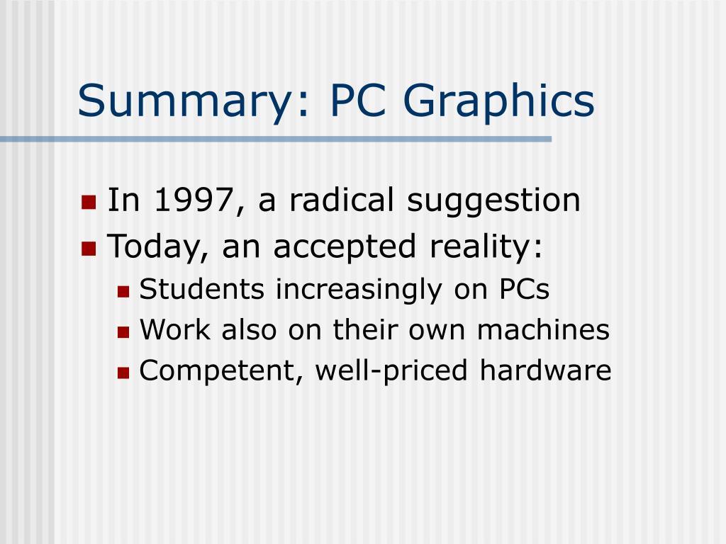 Summary: PC Graphics