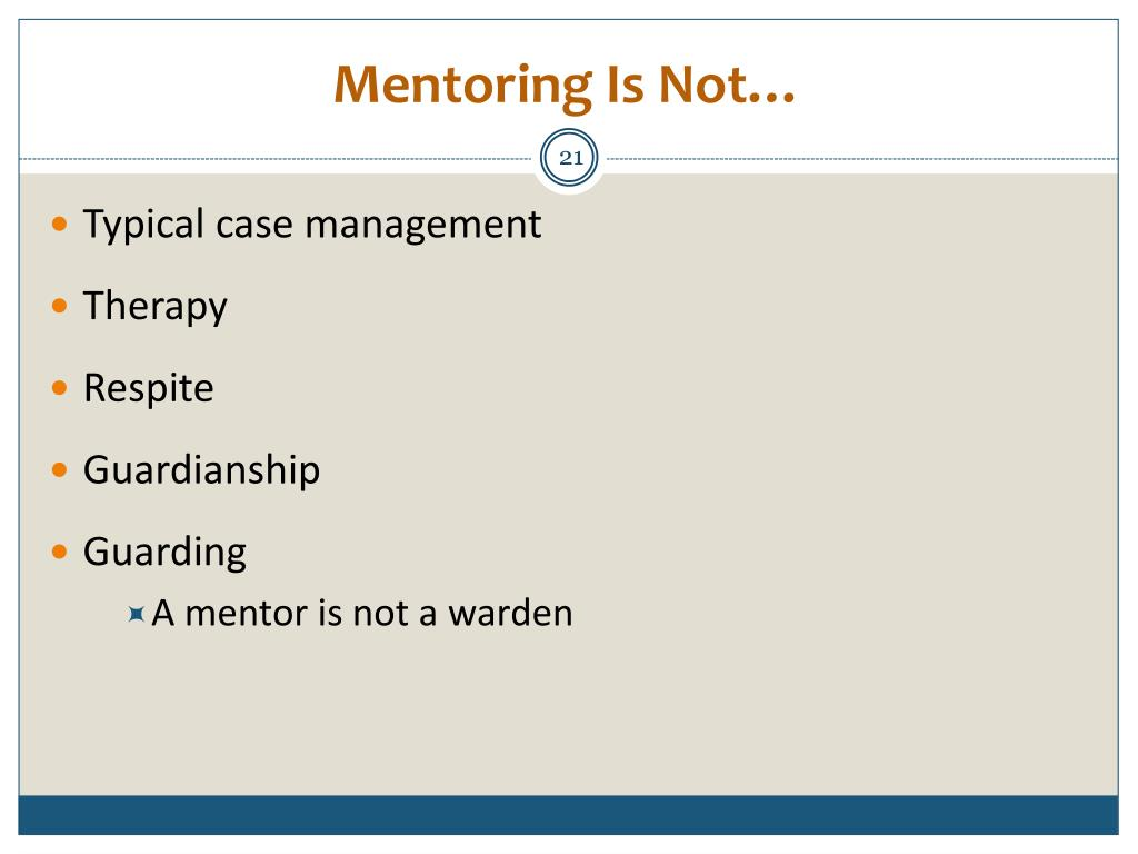 Mentoring Is Not…