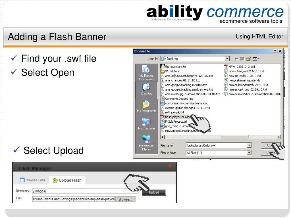 Adding a Flash Banner