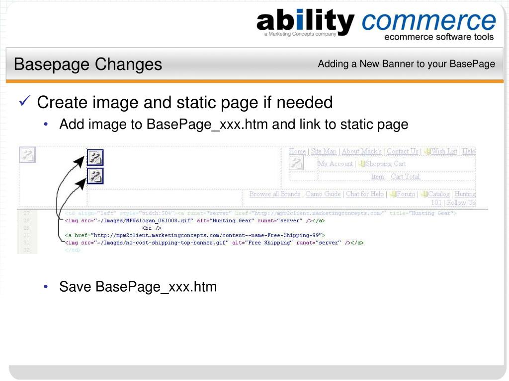Basepage Changes