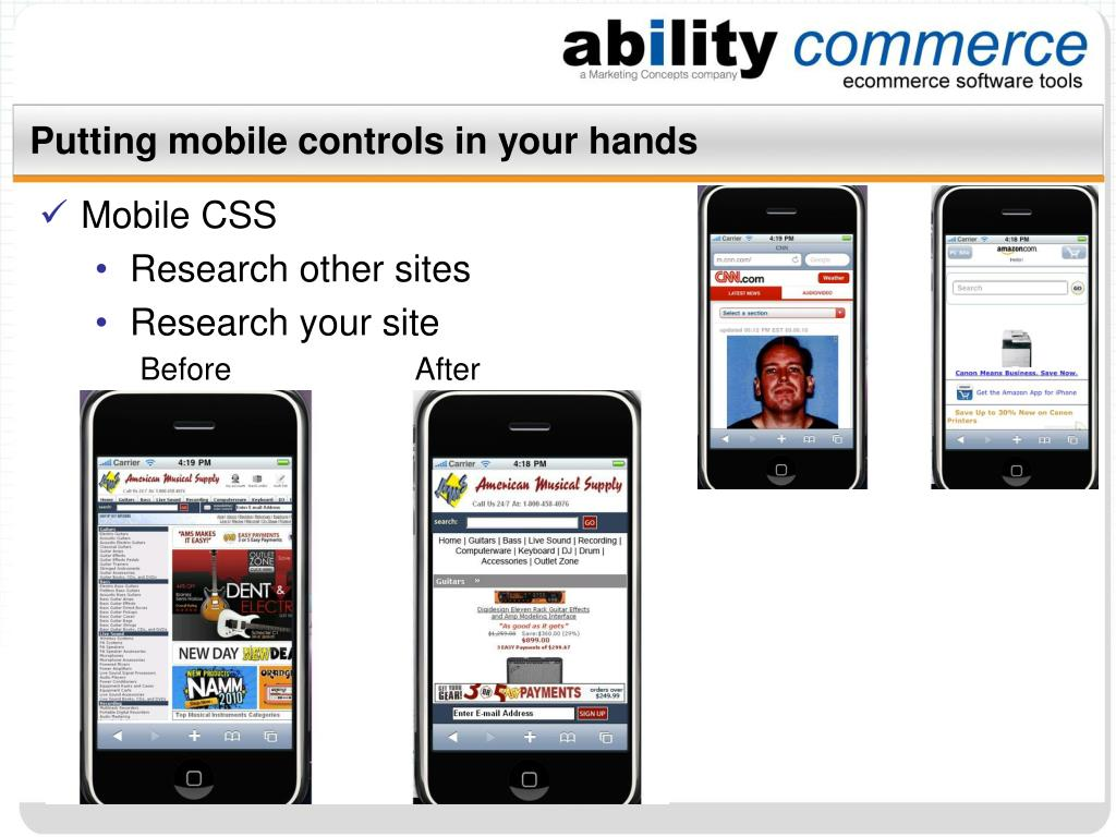 Putting mobile controls in your hands