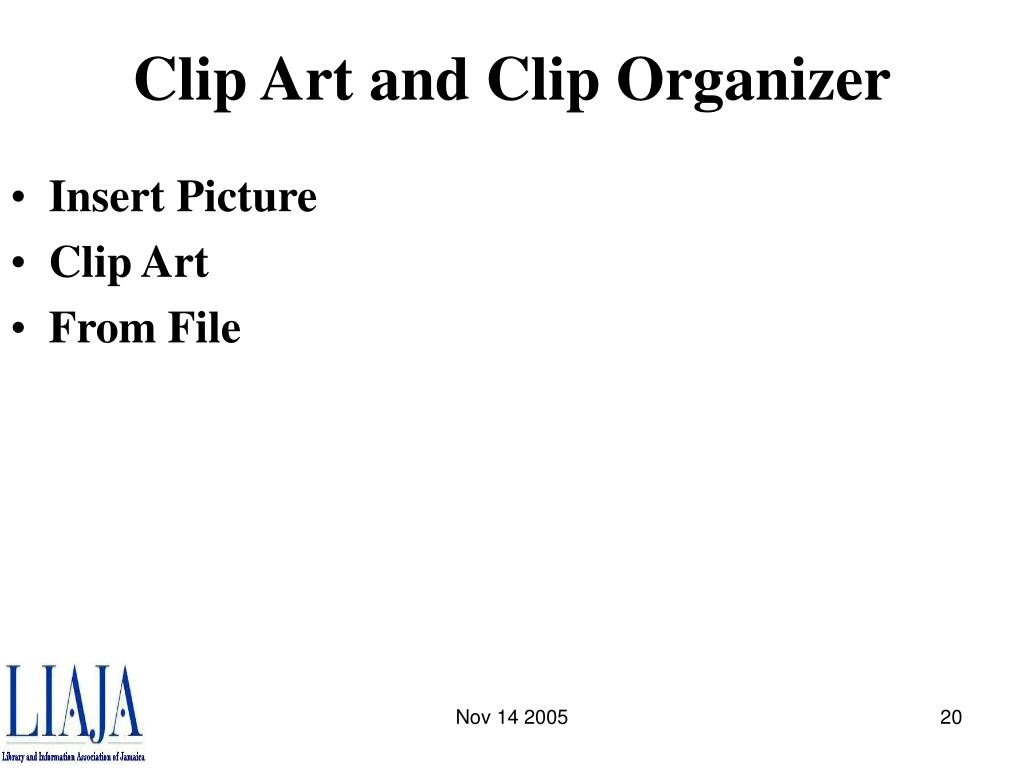 Clip Art and Clip Organizer