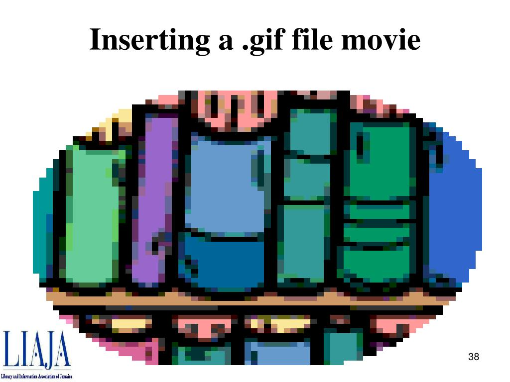 Inserting a .gif file movie