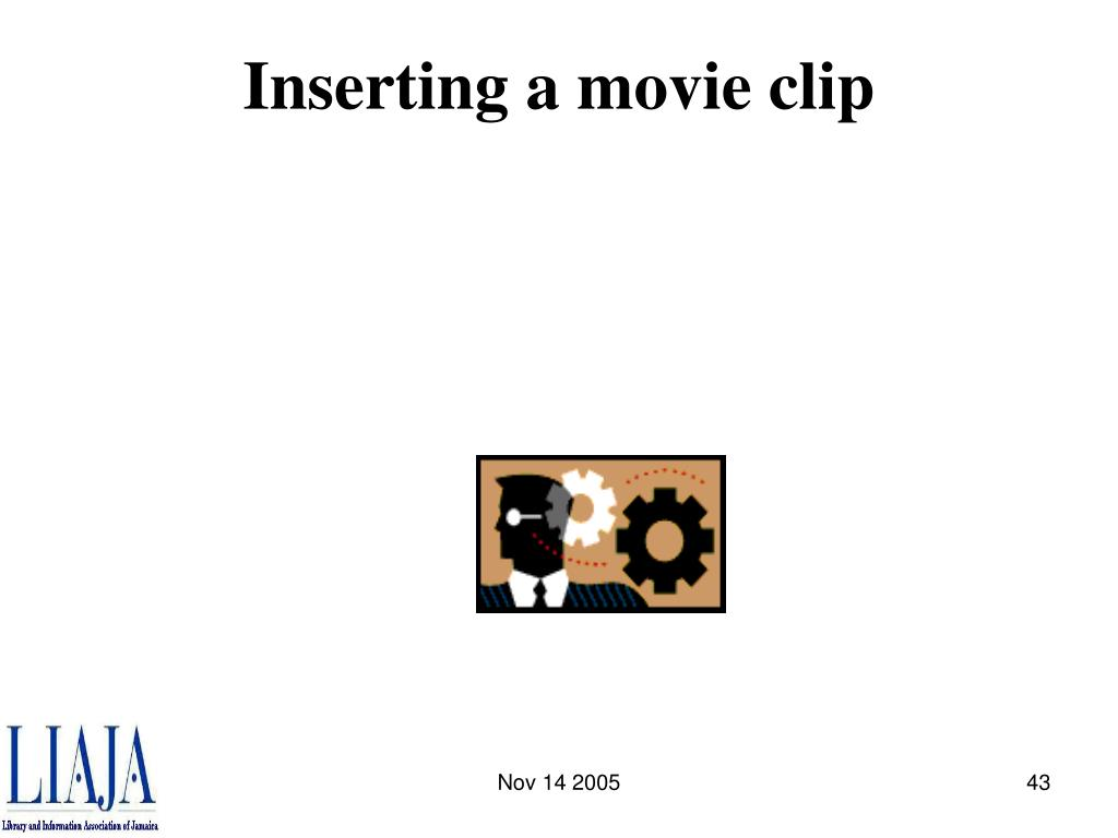 Inserting a movie clip