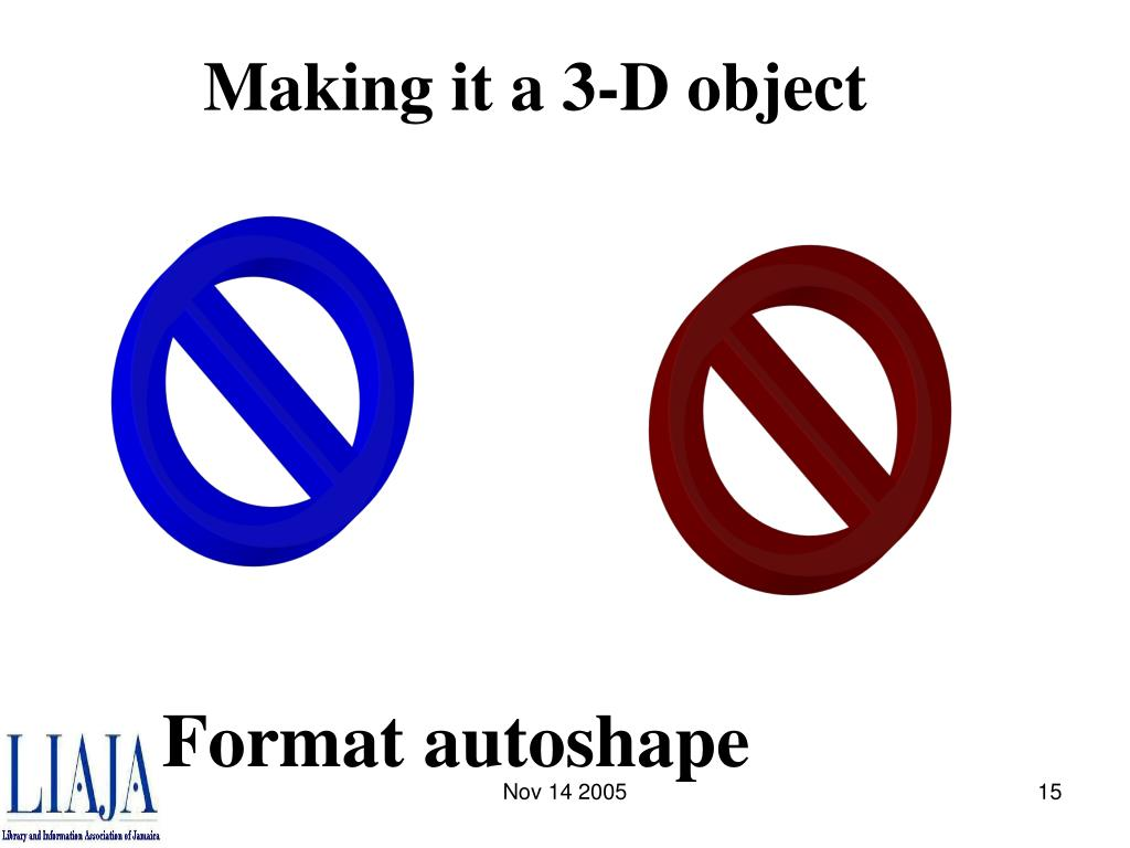 Making it a 3-D object