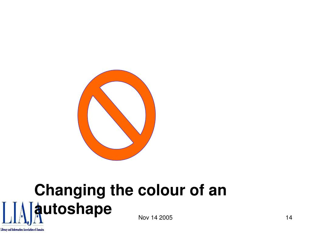 Changing the colour of an autoshape