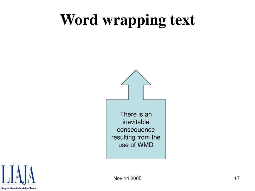 Word wrapping text