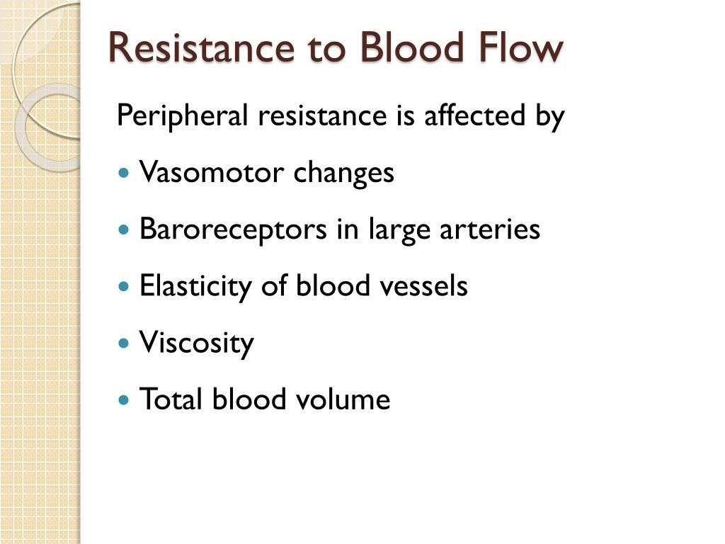 Resistance to Blood Flow