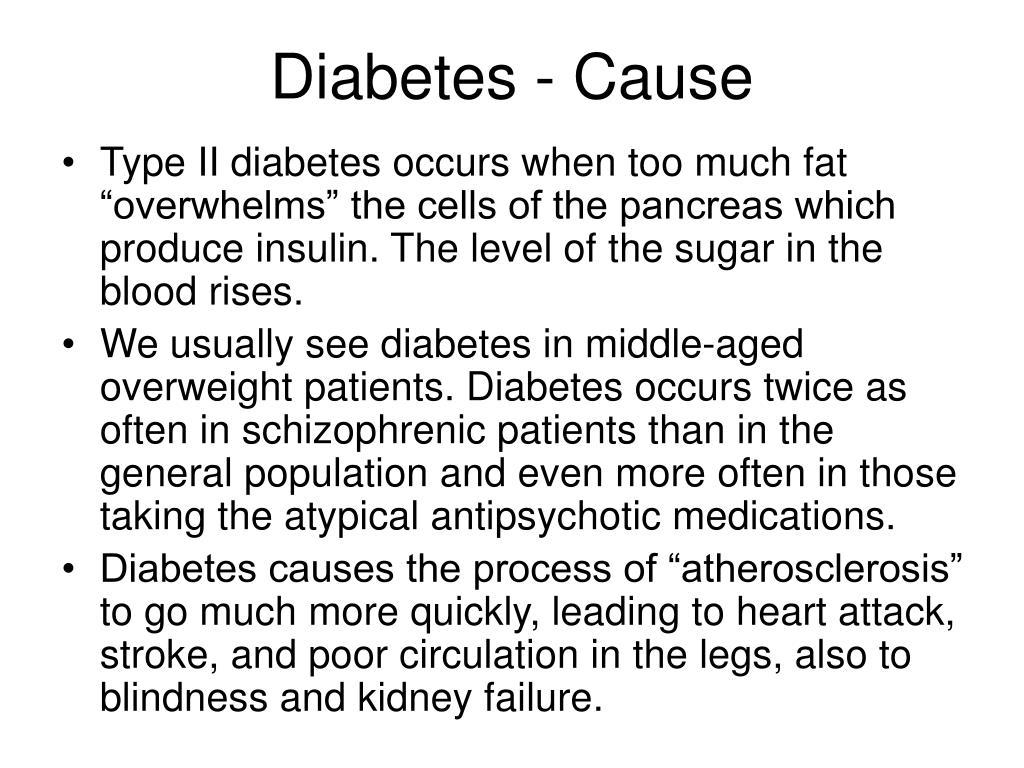 Diabetes - Cause