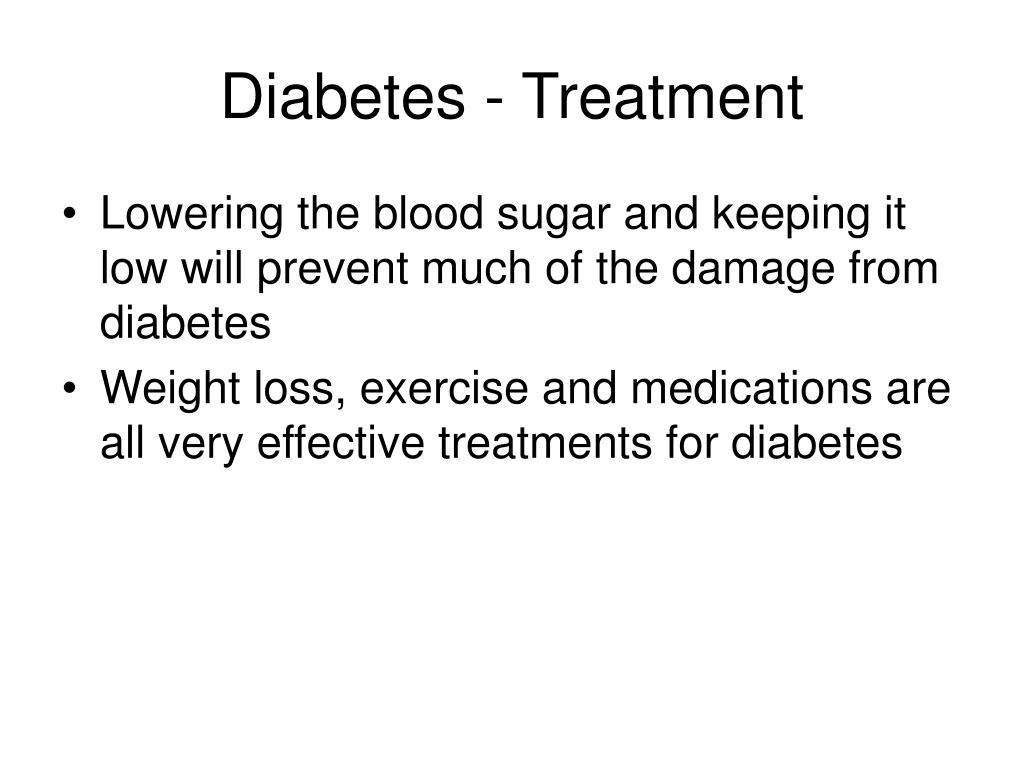 Diabetes - Treatment