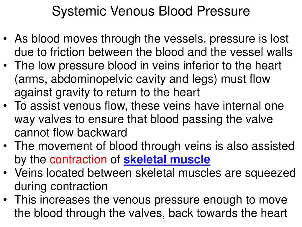 Systemic Venous Blood Pressure