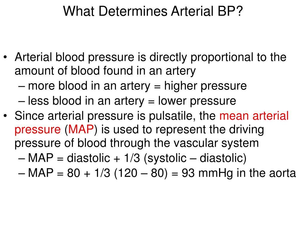 What Determines Arterial BP?