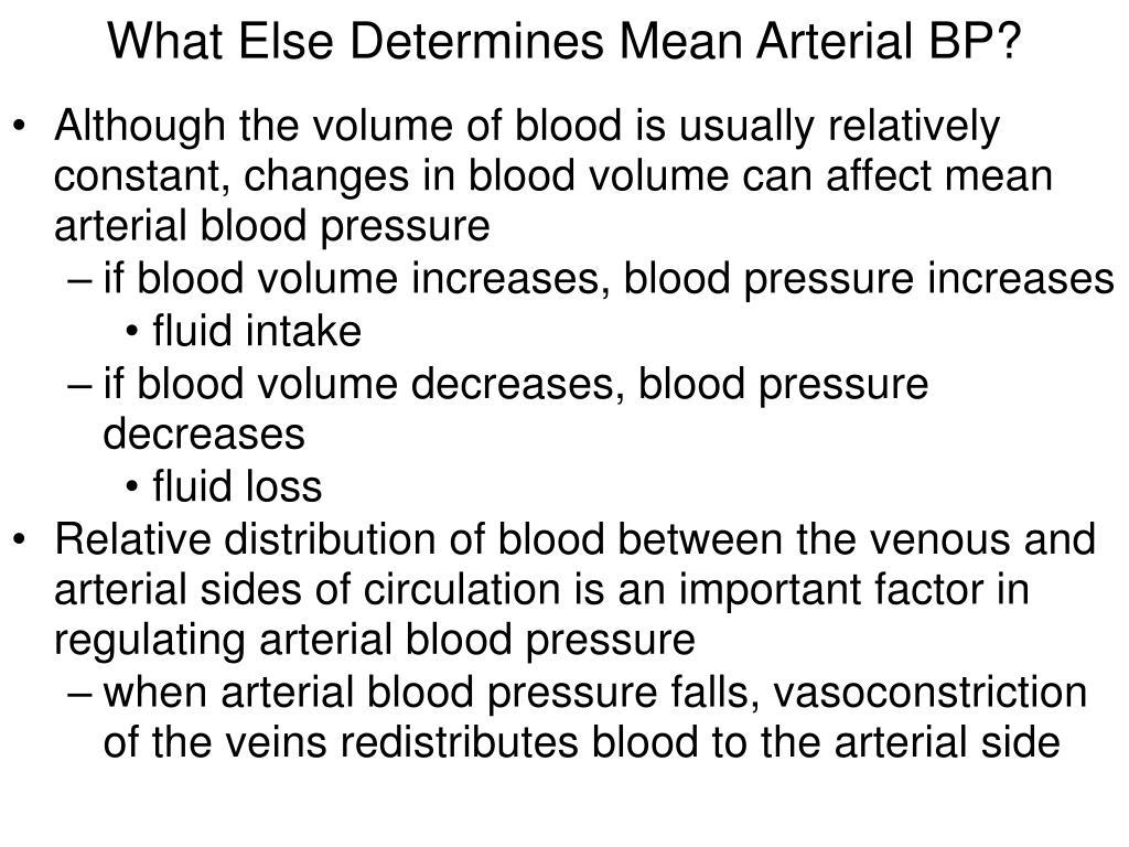 What Else Determines Mean Arterial BP?