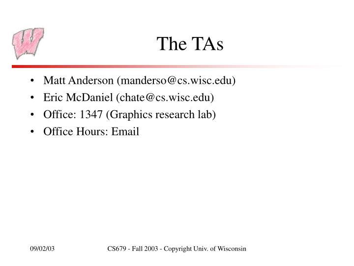 The TAs