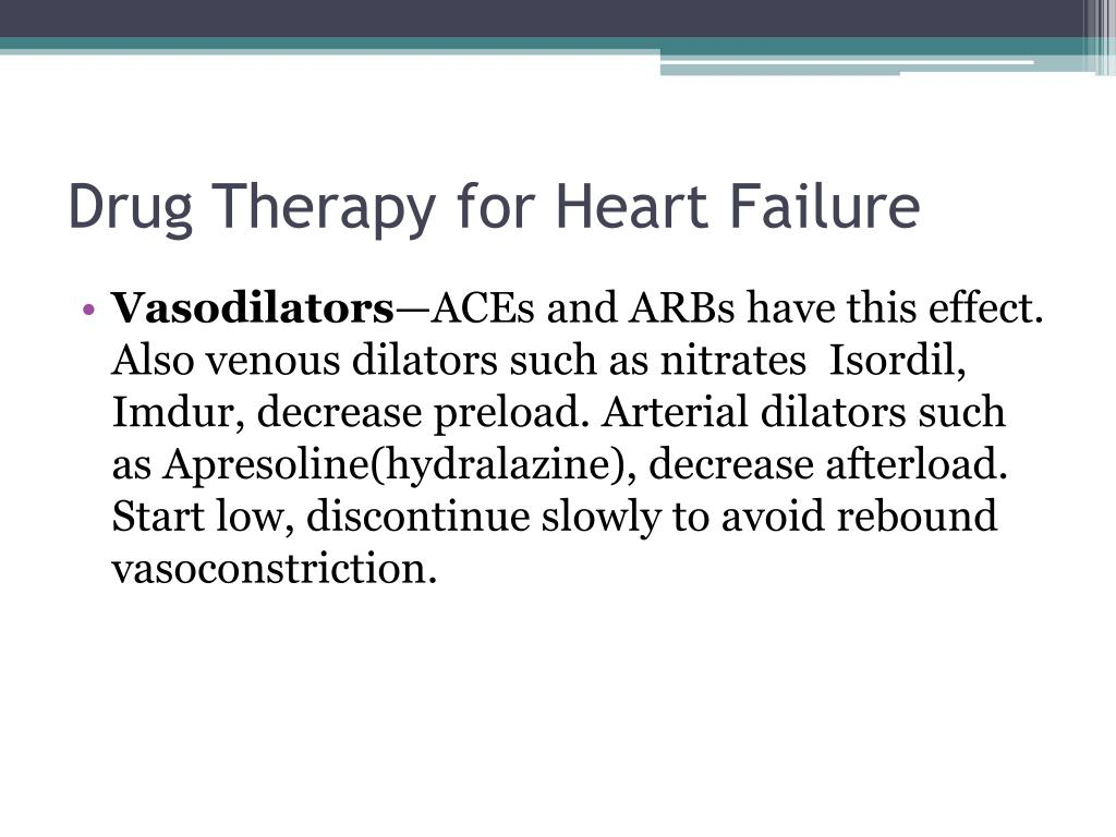 Drug Therapy for Heart Failure