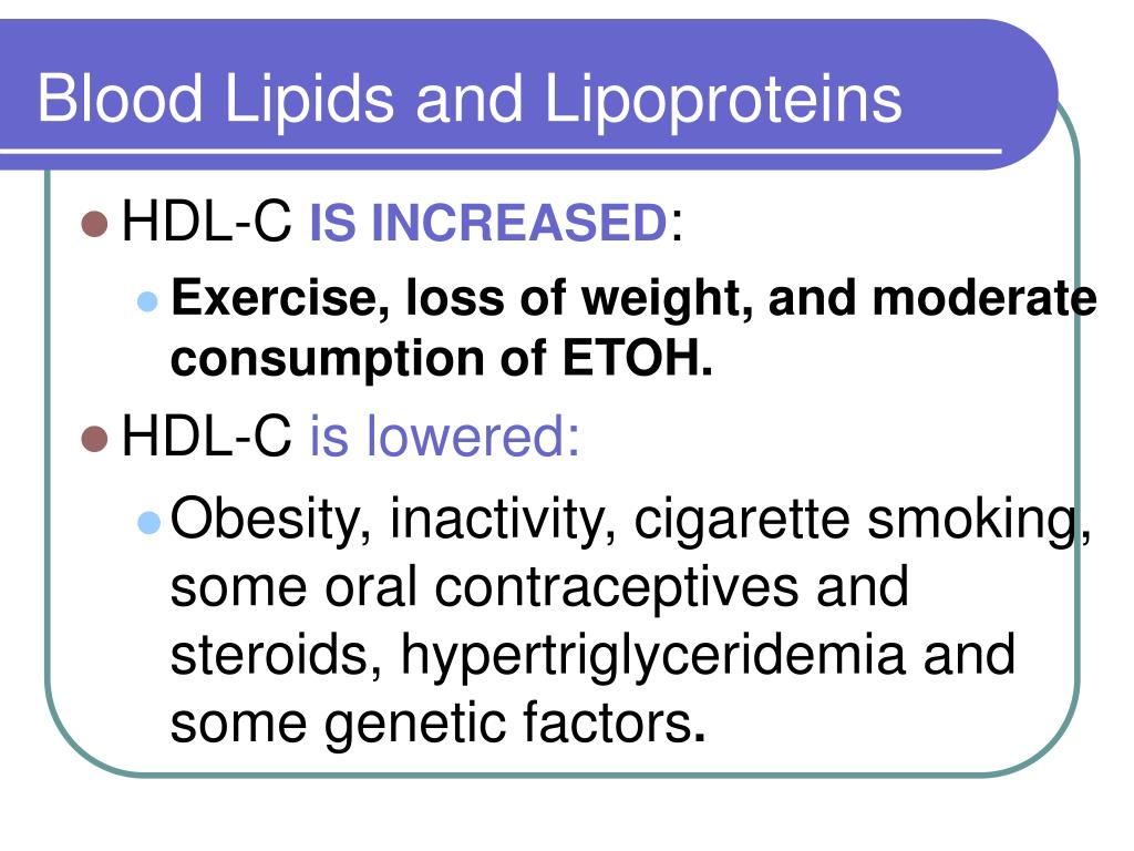 Blood Lipids and Lipoproteins