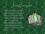 text connector