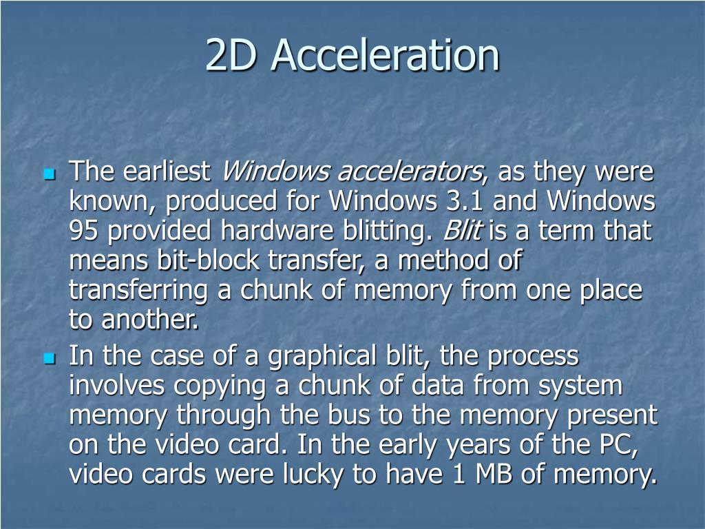 2D Acceleration