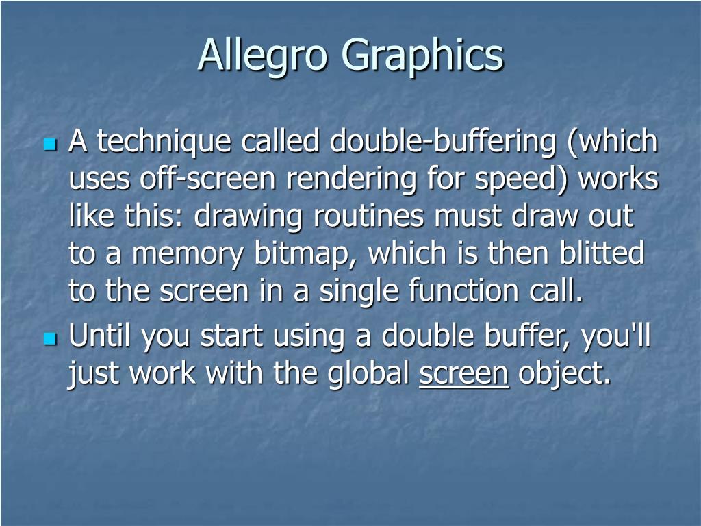 Allegro Graphics