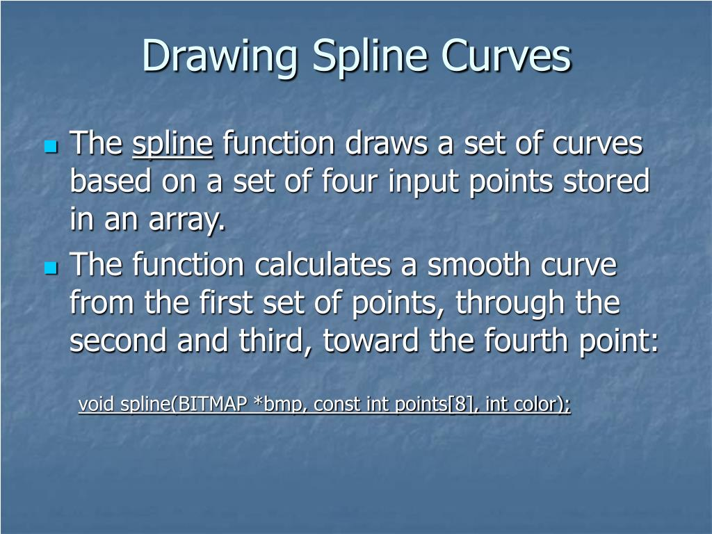 Drawing Spline Curves