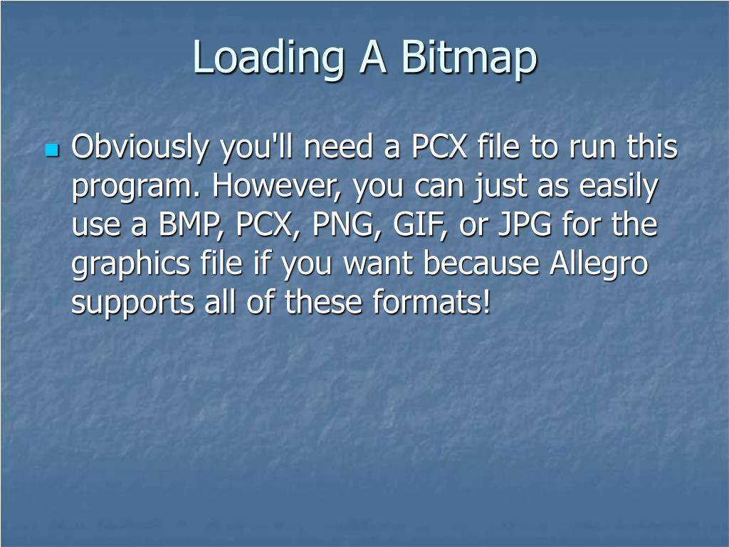 Loading A Bitmap
