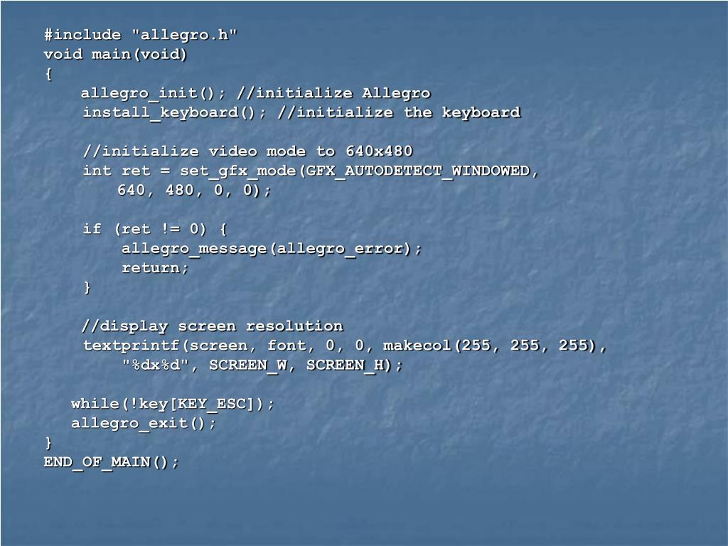 """#include """"allegro.h"""""""