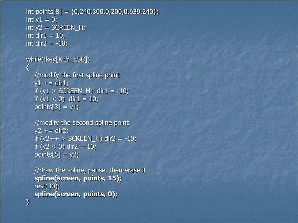 int points[8] = {0,240,300,0,200,0,639,240};