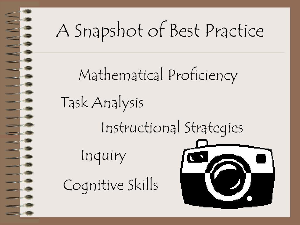 A Snapshot of Best Practice