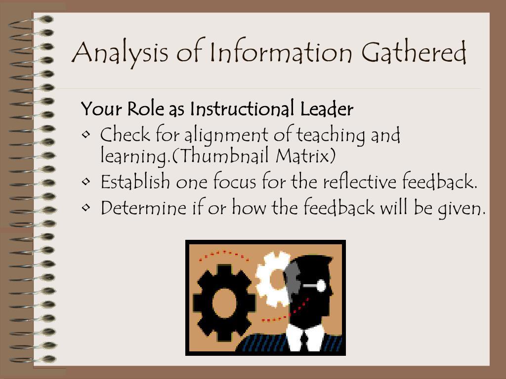 Analysis of Information Gathered